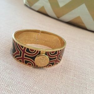 Red navy blue and gold bracelet spartina